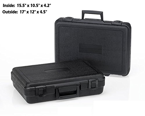 HUNSAKER USA: Hard Case Universal Storage Box (Inside Dims: 15.5'' x 10.5'' x 4.2'' - Black)