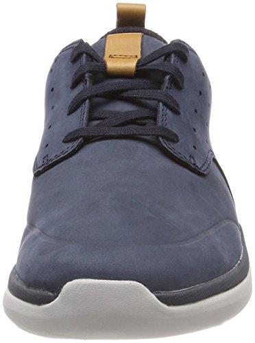 Clarks navy De Lace Azul Hombre Zapatos Derby Cordones Nubuck Garratt Para wnw6xOF