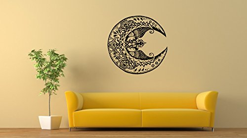 Wall Vinyl Stickers Moon Decals Tribal Tattoo Graphics Home Decor Art Design Image DB0047 - Moon Tribal Tattoos