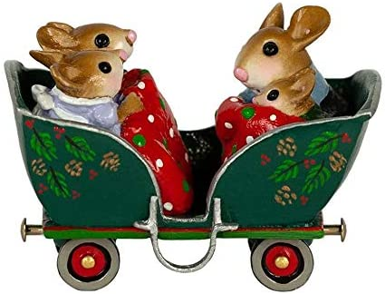 Wee Forest Folk Christmas M-453q Cozy Carriage