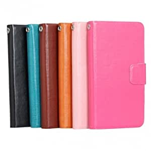 Synthetic Leather Card Wallet Case For Lenovo S820 Smart Phone --- Color:Pink