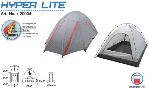 High Peak Hyper Lite Backpacking Hiking Camp Camping Compact Hyperlite Tent 2 Person Size