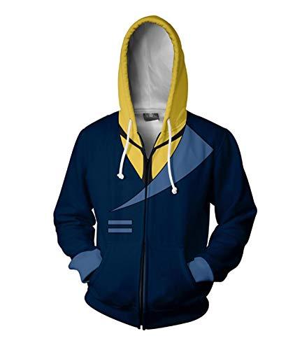 HPY Cowboy Bebop Spike Spiegel Hoodie Costume 3D Printed Creative Fashion Sweater Halloween Costume,M Blue
