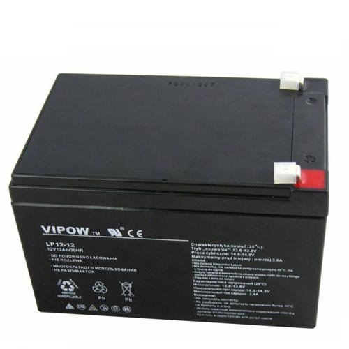 VIPOW 12V 12Ah AGM Gel Battery Deep Cycle Maintenance Free Mobility Scooter