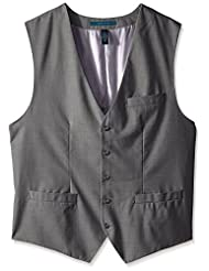 Perry Ellis Men's Big-Tall Solid Texture Suit Vest
