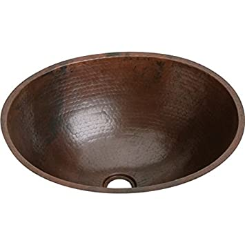 Elkay Asana Ecu1714ach Single Bowl Undermount Copper Bathroom Sink Amazon In Home Improvement