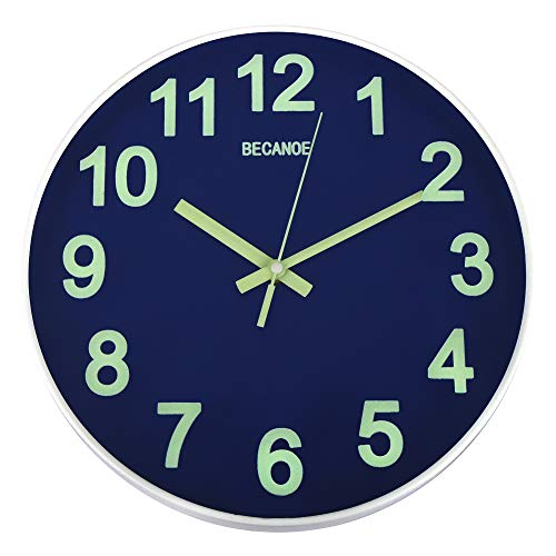 BECANOE 벽 시계 야광 연속 초침 싸일런트 wall clock 벽시계 인테리어 사파이어 블루 / 블랙 / 레드