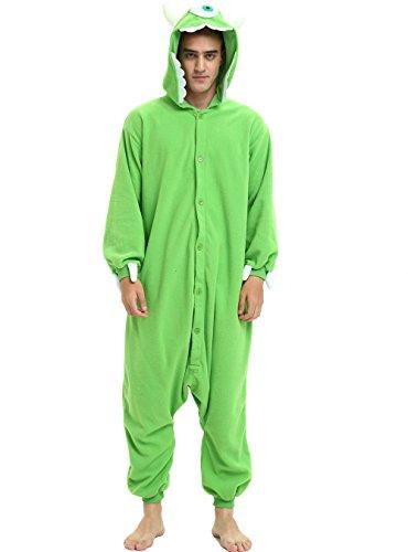 Es Unico Mike Wazowski Onesie Pajama Costume for Adults and Teenagers Large