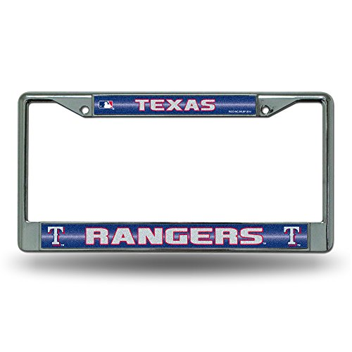 ing License Plate Frame, Chrome, 12 x 6-Inch (Texas Rangers Frame)
