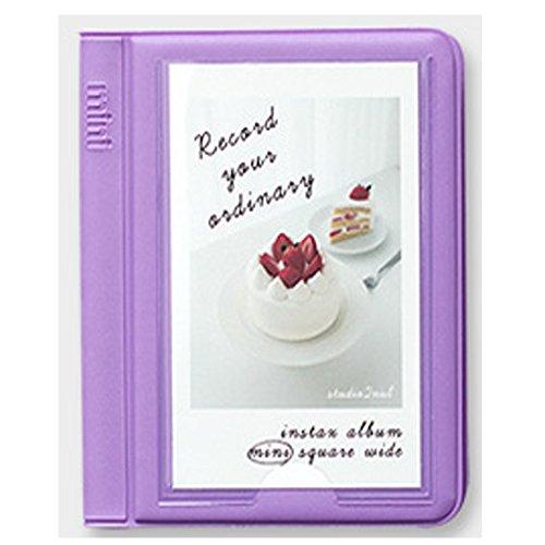 2NUL Mini Polaroid Films Book Photo Album for Fujifilm Fuji Instax Instant Mini Small (Lavender) by 2NUL