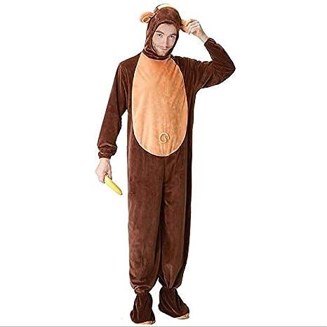 comprare popolare 5faf5 e82bf DUKUNKUN Pigiama Scimmia per Adulti Costume Marrone Gioco di ...