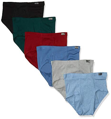 Hanes Tagless Men's No 6-Pack Ride Up Briefs Waistband ComfortSoft Underpants