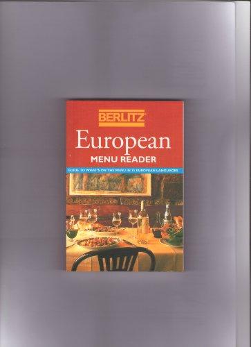 Berlitz European Menu Reader (Berlitz Phrase Books)