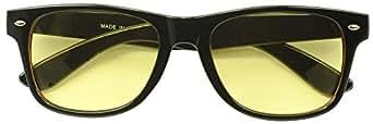 HD Night Vision Driving 80s Yellow POLARIZED Lens Wayfarer Style Sunglasses
