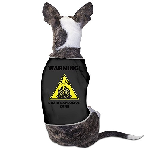 Pet Puppy Trigger Warnings Warnings Soft Simple Outfit Short Sleeve Shirt For Dogs Medium Black
