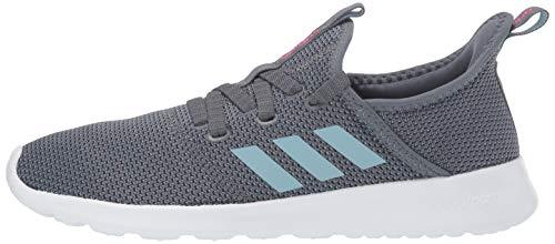 adidas Women's Cloudfoam Pure Running Shoe, Onix/Grey/Shock Pink, 5 Medium US