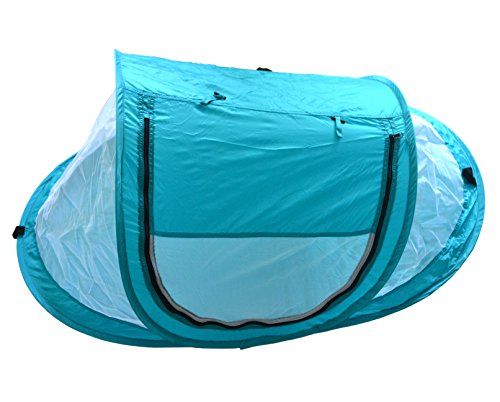 SAMYO Instant Pop up Portable Outdoor Beach Tent, Travel Crib for Baby Protect from Sun & Insects & Mosquitoes (Blue)