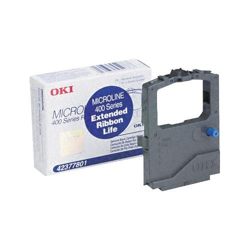 - 6 Pack Okidata/ OKI 42377801 (42377-801) Black OEM Genuine Ribbon Cartridge (4M Characters) - Retail
