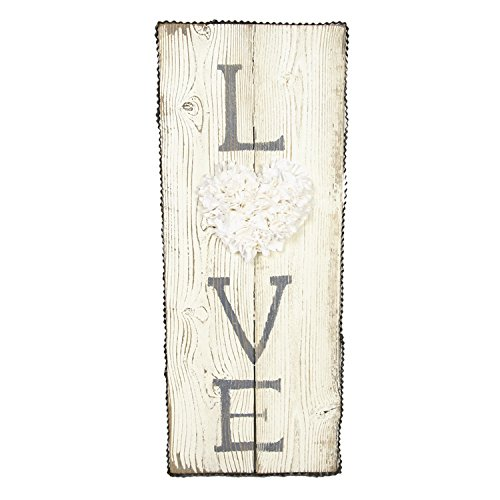 The Round Top Collection Fabric LOVE Sign Cream - - Embellishments Collection Fabric