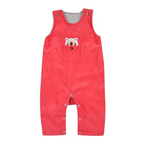 d3304fecb1211 Luonita Toddlers Infant Baby Kids Cartoon Bear Pattern Romper Suspenders  Outfits Jumpsuit Orange