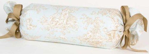 Glenna Jean Central Park Pillow Roll, Blue/Chocolate/Tan/White by Glenna Jean