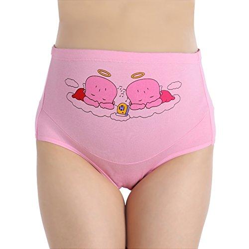 Bornbayb Women's Pregnancy Printing Panties Cotton Adjustable High Cut Maternity Nursing Underwear (Cut Maternity High Panties)