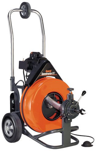General Pipe Cleaners PS92C Speedrooter 92 1/2 HP Large Line Motorized Drain Cle, NA by General Pipe Cleaners