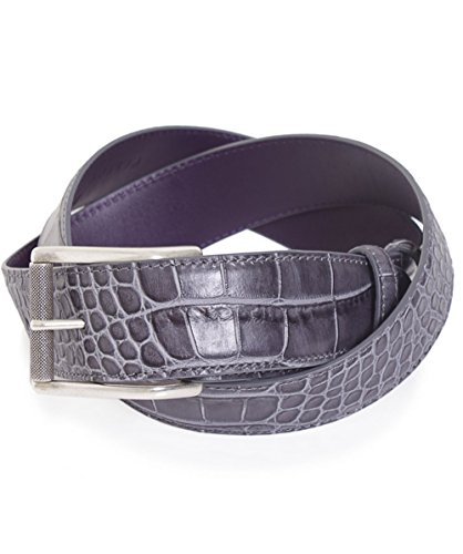 Elliot Rhodes Crocodile Effect Leather Belt S - Belt Crocodile Mock