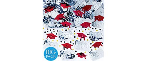 Amscan 368281.40 Confetti, 2 1/2oz, Apple Red