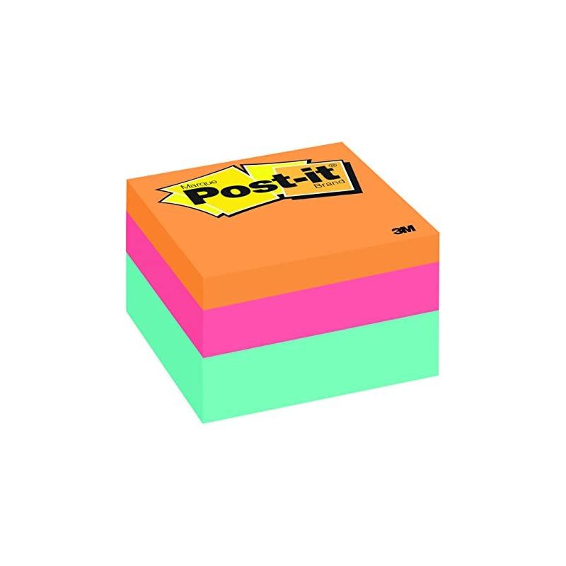 Post-it Notes Cube, 3 in x 3 in, Aqua Wa