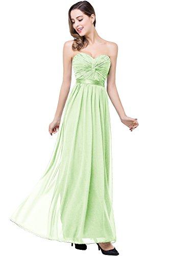 MisShow Women's Evening Prom Dresses Ruffle Chiffon Sleeveless Party Dresses US6