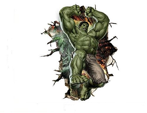 Marvel's Incredible Hulk Vertical Peel and Stick 23.6 inch x 35.4 inch Removable Wall Decal The Incredible Hulk 3D Wall Art Stickers For Home Decoration Or Kids (Incredible Hulk Costumes For Adults)