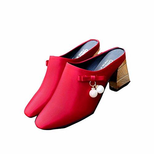 Conseils YUCH Perlées red Chaussons Soirée Mariages Sandales Femme 1qzZa7