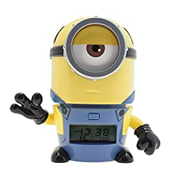 Bulb Botz Despicable Me 3 2021234 Mel Kids Night Light Alarm Clock with Characterised Sound | yellow/blue | plastic | 5.5 inches tall | LCD display | boy girl | official