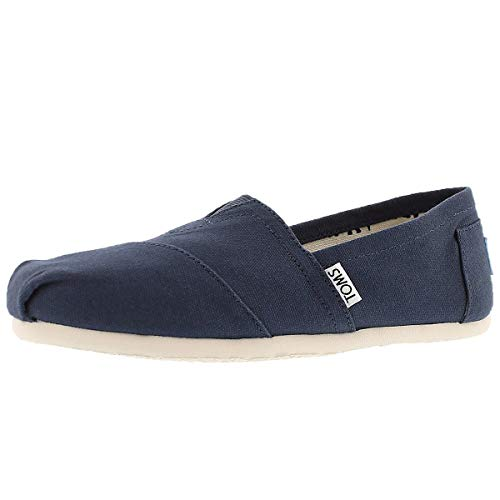 - TOMS Women's Canvas Slip-On,Navy Canvas,11 M