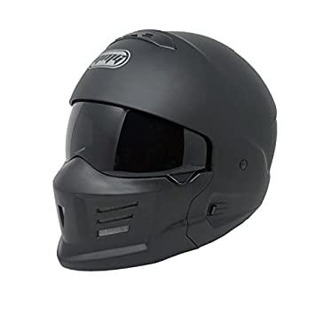"MMG ""STEALTH"" Motorcycle Helmet Detachable Face Mask Open Face DOT Approved – Matte"