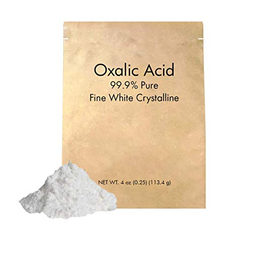 Oxalic Acid (4 oz.) by Pure Organic Ingredients, Eco-Friendly Packaging, 99.6% Pure Crystal Powder, Wood Bleaching Agent, Rust Remover (Also Available in 11 oz, 2 lb)