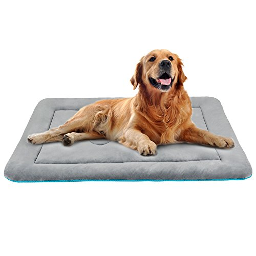 JoicyCo Dog Bed Mat Washable Anti-Slip Soft Crate Pad Matress for 42 Large Inch Pets Lightweight Kennels