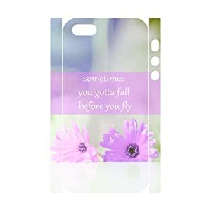 Personalized Phone Case with Hard Shell Protection for Iphone 5,5S 3D case with Sometimes You Gotta Fall lxa#925488