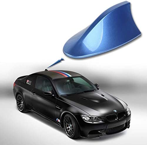 ADATECH Antena Tiburon Universal para Coche Ford Skoda Opel BWM Audi Seat Shark Azul FACIL INSTALACION Azul