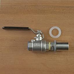 Stainless Steel 1/2in Ball Valve With Weldless Female Bulkhead