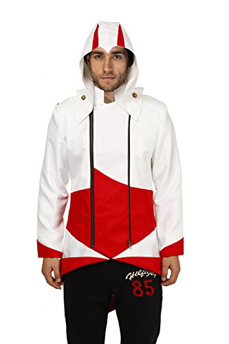 Goodsaleok Cosplay Jacket with Detachable Hood, Child-Large, White and Red - Red Hood Cosplay Costume For Sale