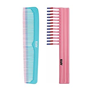 Kaiv Combo of Shampoo Comb with Handle And Grooming Comb