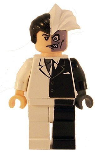 LEGO Batman Minifigure - Two-Face Black & White (2006)