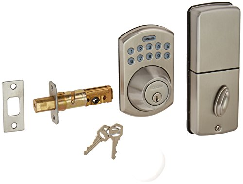 LockState LS-DB550-SN Electronic Keypad Deadbolt Satin Nickel Boulder Style LockState