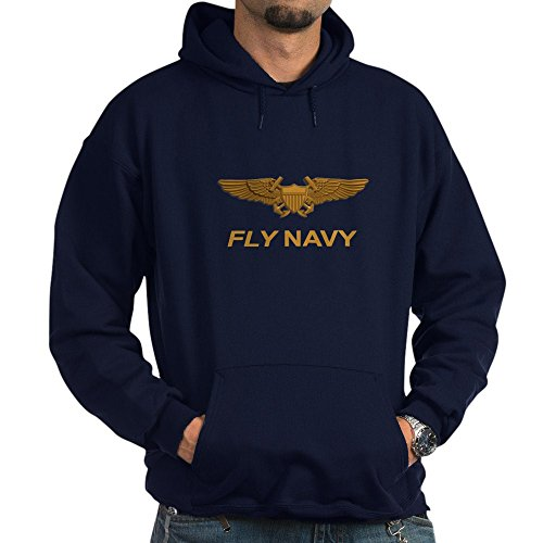 Wing Man Flight Suit (CafePress - Naval Flight Officer Wings - Pullover Hoodie, Classic & Comfortable Hooded Sweatshirt)