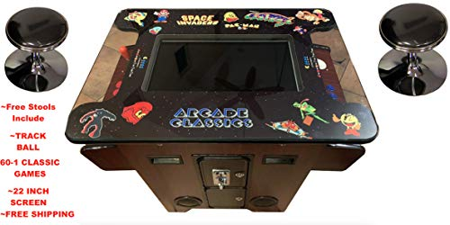 60 1 Arcade - AB INC. 22 INCH Screen TOP of The LINE. Cocktail Arcade Machine with 60-1 Classic Games 135LB Commercial Grade