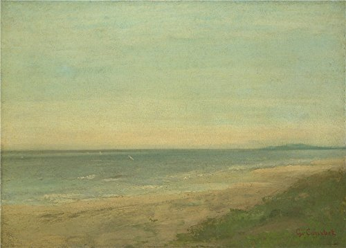 ('After Gustave Courbet The Sea Near Palavas ' Oil Painting, 10 X 14 Inch / 25 X 35 Cm ,printed On High Quality Polyster Canvas ,this High Resolution Art Decorative Canvas Prints Is Perfectly Suitalbe For Gym Decoration And Home Artwork And Gifts)