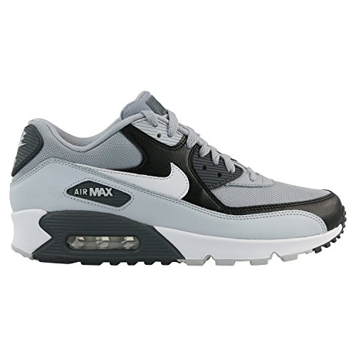 NIKE Mens Air Max 90 Essential Running Shoes Wolf Grey/Pure Platinum/Black/White 537384-083 Size 8.5