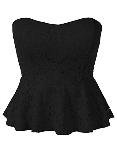 Peplum Tube Top - 1
